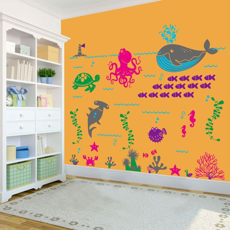 The artist's work could not be appreciated more when this wall decal adds so much colour.