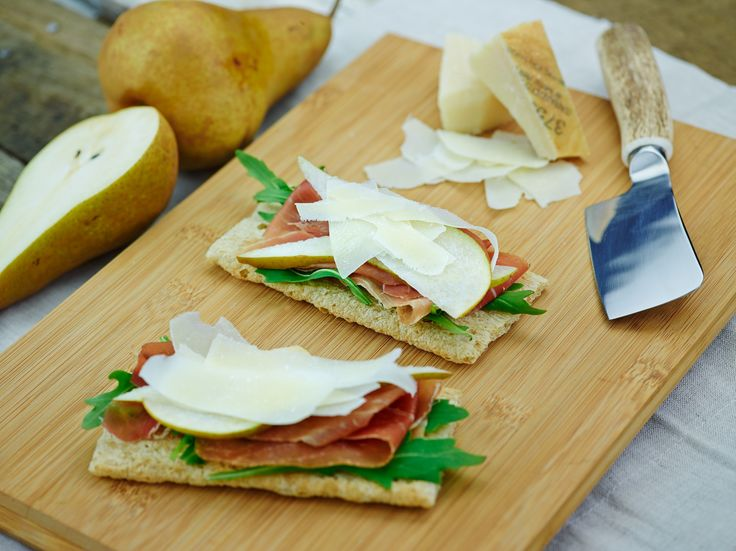 Prosciutto, pear & parmesan - recipe courtesy of Campbell Arnotts