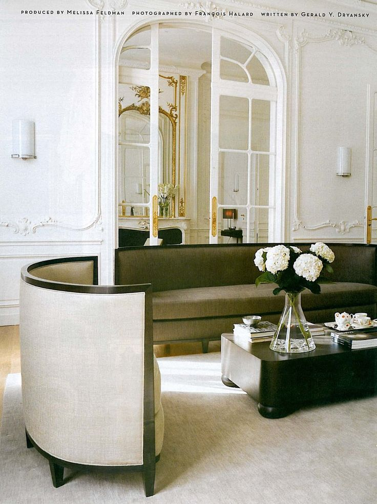 Schön Flat In The Middle, Curved On Edges. Paris Townhouse Designed By Fabulous  French Interior Designer Andrée Putman.