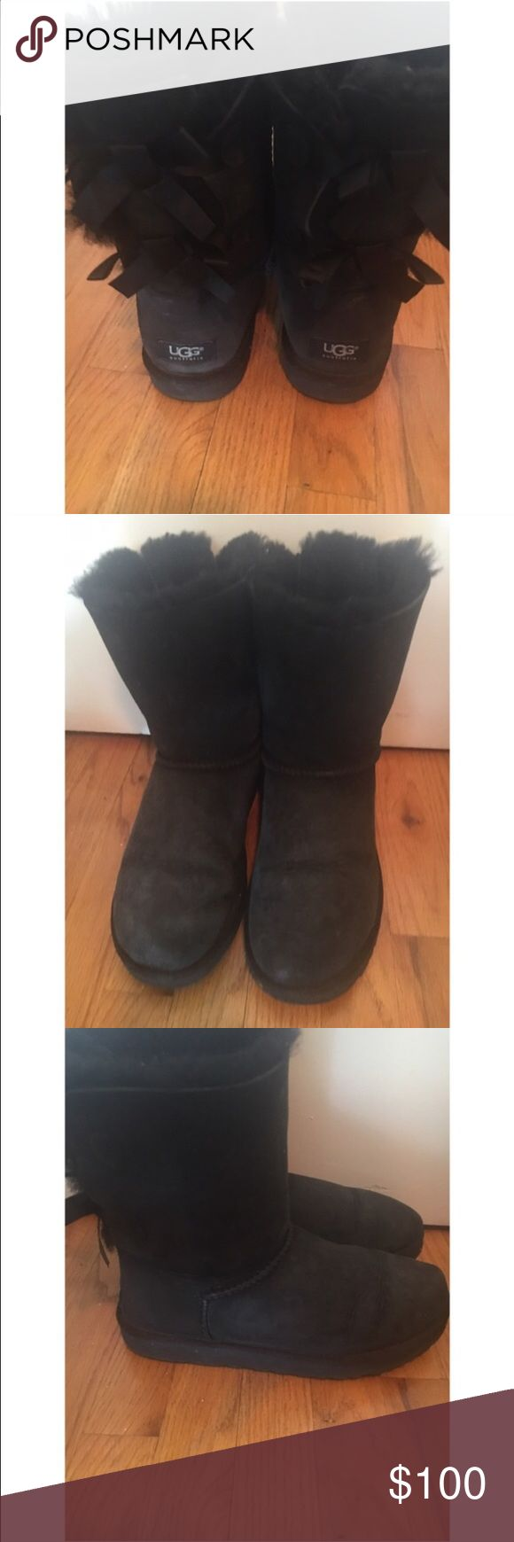 Listing again! Ugg Bailey bow boots 10! Excellent condition UGG Shoes Winter & Rain Boots