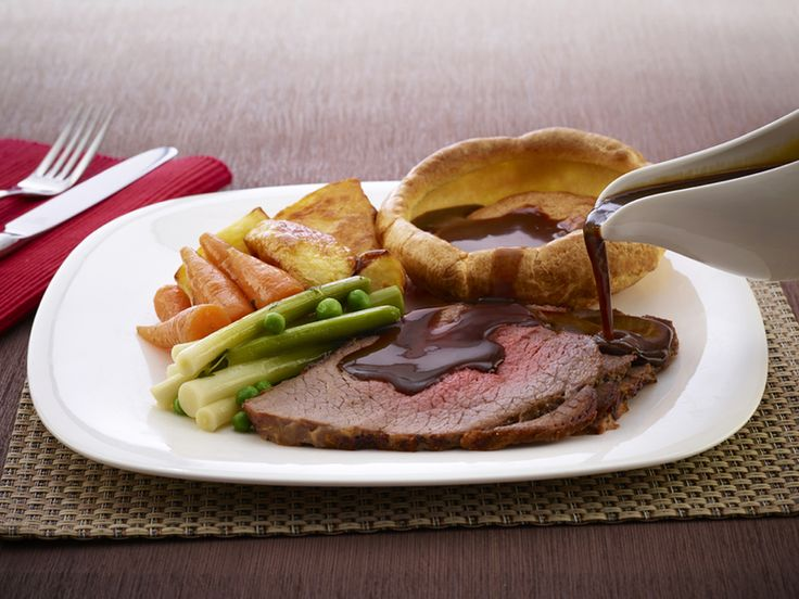 Roast Beef with Bisto Gravy and McDougalls Yorkshire Puddings recipe by Premier Foods