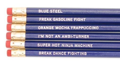 Zoolander Pencil Set (http://www.wordon.com.au/products/zoolander-pencil-set.html)