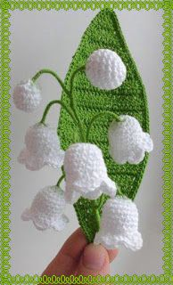 crochet knit unlimited: Lilies of the valley crocheted