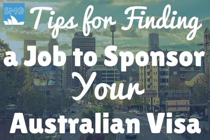 How to Find a Visa Sponsoring Job in Australia.   RePinned by : www.powercouplelife.com