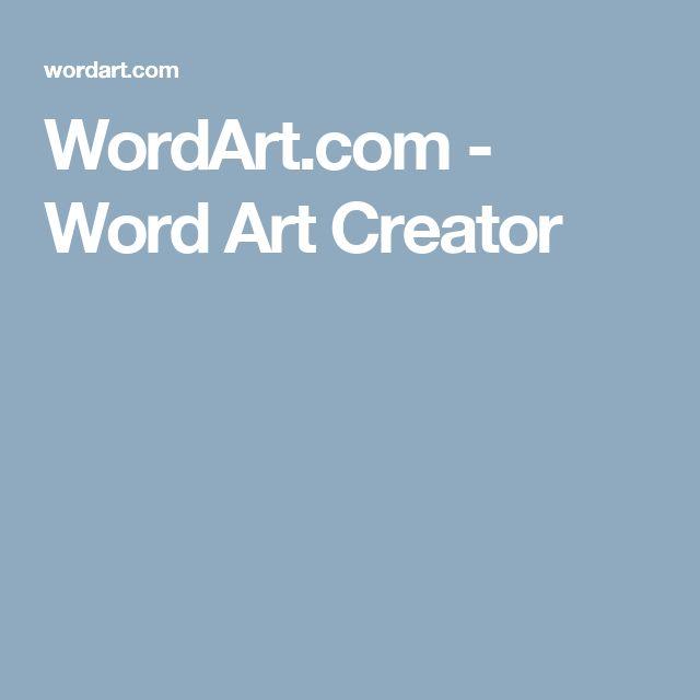 WordArt.com - Word Art Creator