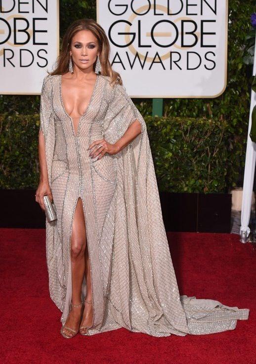 Złote Globy 2015:Jennifer Lopez w sukni Zuhair Murad, fot. East News