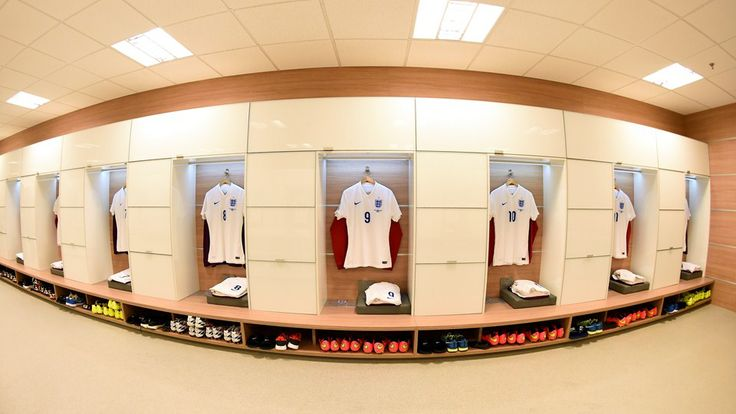 SAO PAULO, BRAZIL - JUNE 19: The shirts worn by Daniel Sturridge of England hangs in the dressing room