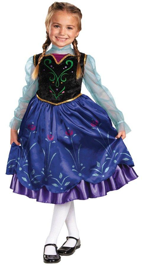Disney Frozen Deluxe Anna Toddler / Child Girlu0027s Costume  sc 1 st  Pinterest & 13 best Frozen Halloween Costumes images on Pinterest | Children ...