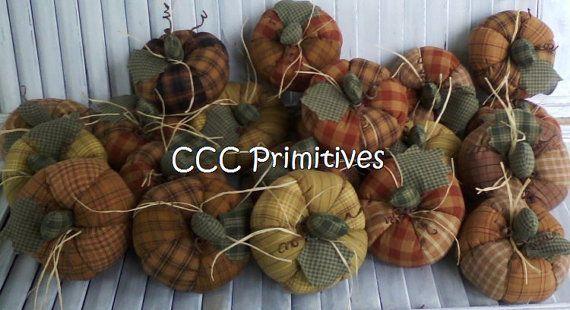 Primitive Fall Patchwork Pumpkins EPattern by CCCPrimitives, $9.00