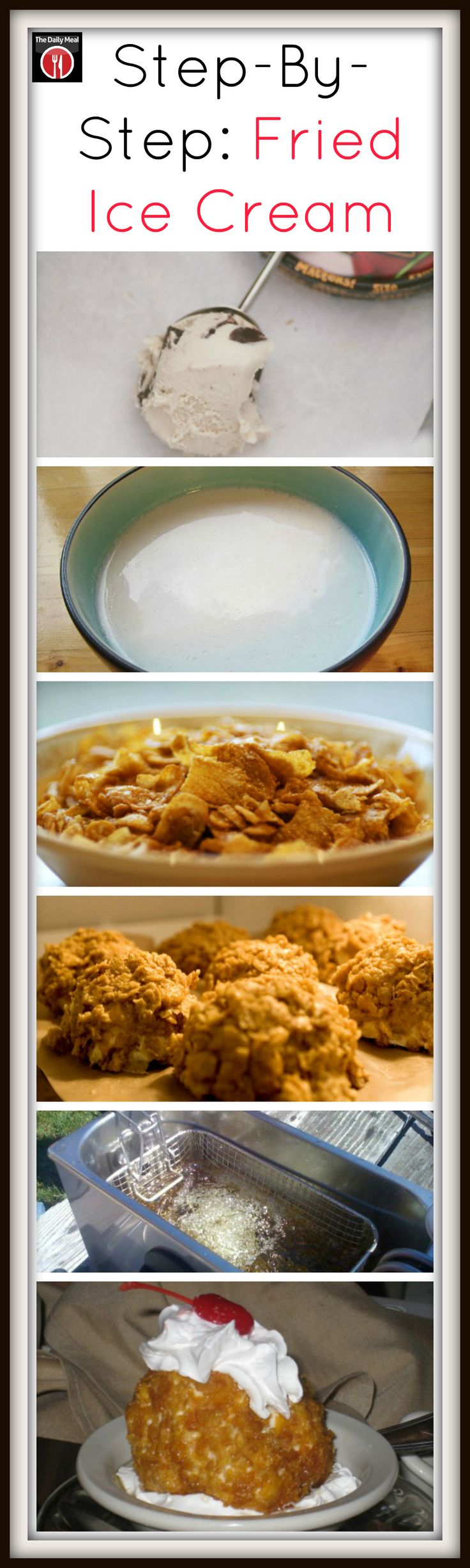 Serve your fried ice cream with your favorite sundae toppings. http://www.thedailymeal.com/step-step-fried-ice-cream
