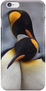 King Penguin Hug iPhone Case