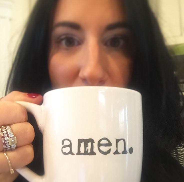 """Beautiful lady - awesome """"amen"""" coffee mug!"""