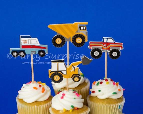Monster Truck Cupcake Toppers Big Truck Party by PartySurprise