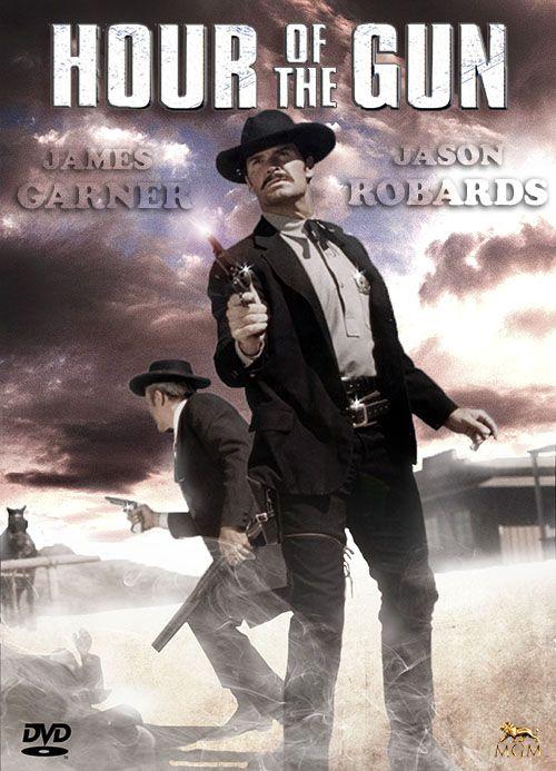HOUR OF THE GUN (1967) - James Garner as 'Wyatt Earp' - Jason Robards Jr. as 'Doc Holliday' - Directed by John Sturges - United Artists - DVD cover art.