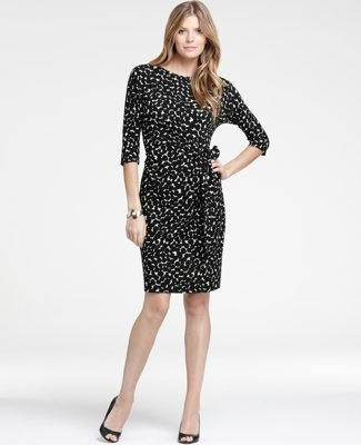 great dress to go from winter to spring: Side Ties, Style, Tie Dress, Exotic Dot, Dresses, Ann Taylor, Dots, Taylors