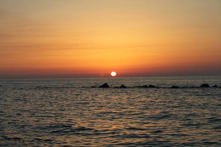 Amazing sunset in Sicily