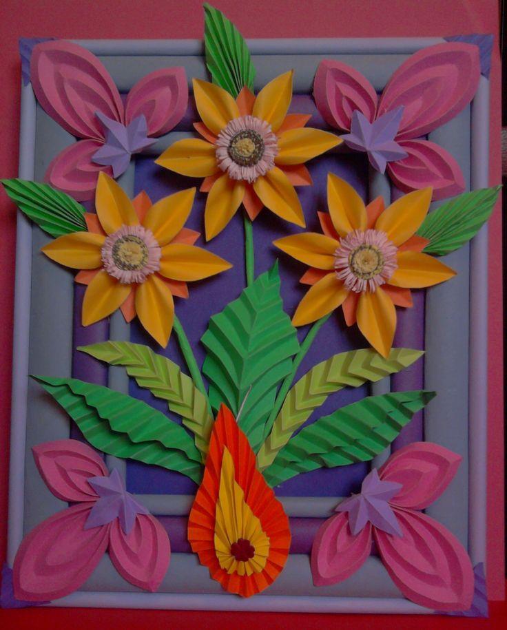 Kwiaty z papieru, ikebana, prace plastyczne, Dariusz Żołyński, flowers paper, paper flowers, orgiami, kirigami, wycinanki z papieru, бумажные цветы