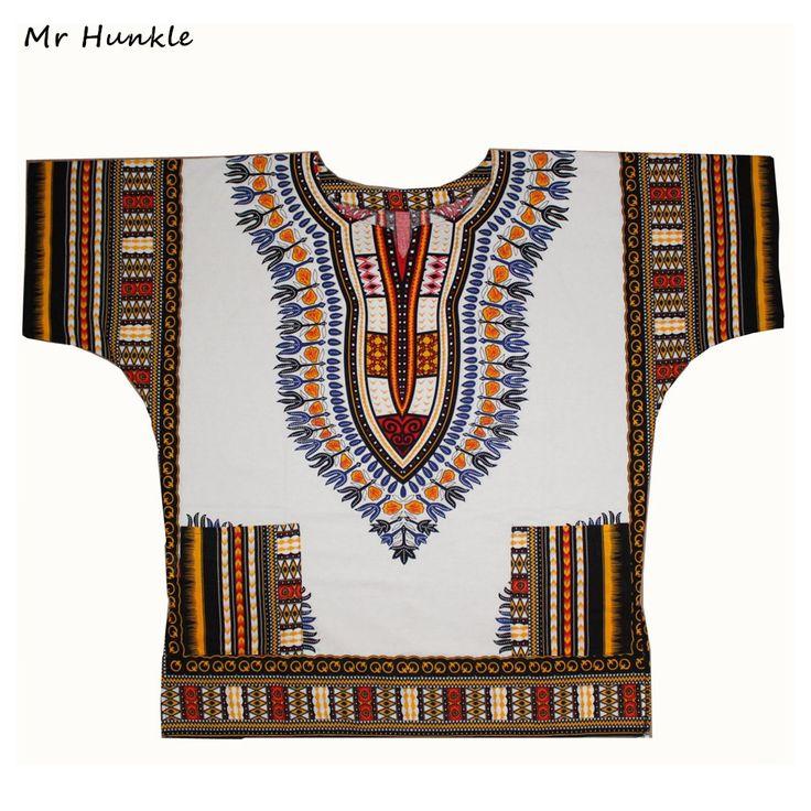 Плюс SizeXXL, XXXL Dashiki Платье 100% Хлопок Африканских Традиционных Печатных Белого Dashiki Одежда для Мужчин Женщин