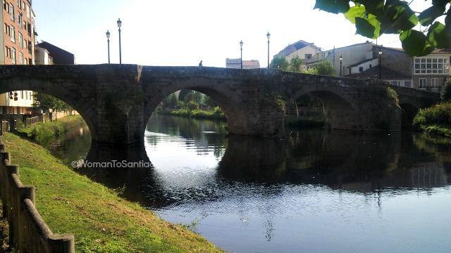 Puente medieval de #MonfortedeLemos en el #CaminodeSantiago de Invierno