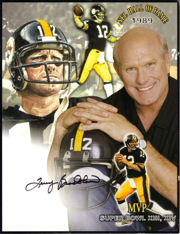 Terry Bradshaw #12 NFL Hall of Fame- PITTSBURGH STEELERS