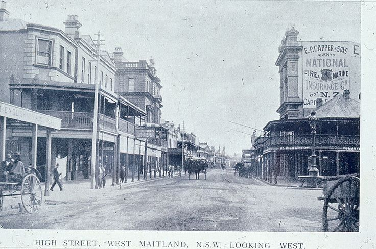C918-0625 High Street, West Maitland NSW, Looking West, c.1914