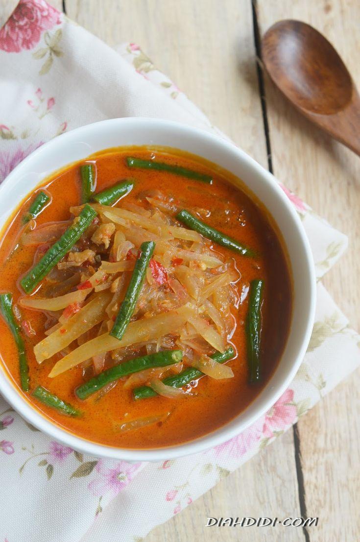 Diah Didi's Kitchen: Lontong Sayur Pepaya Muda Dan Kacang Panjang