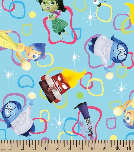 Disney Inside Out Emotions Amoeba Cotton BTHY by DrowningInFabric