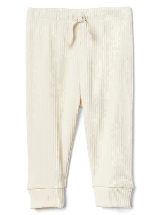 Organic ribbed pants