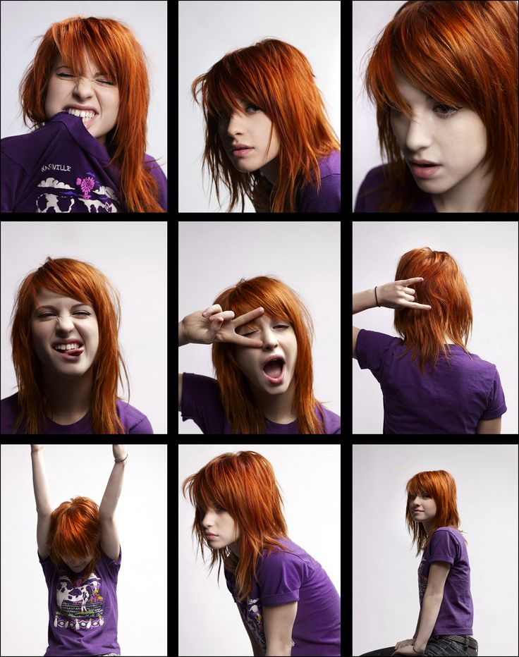 Hayley Williams. I really like this hair style.