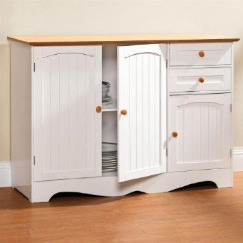 Best Amazon Com Brylanehome Country Kitchen Buffet Home 400 x 300