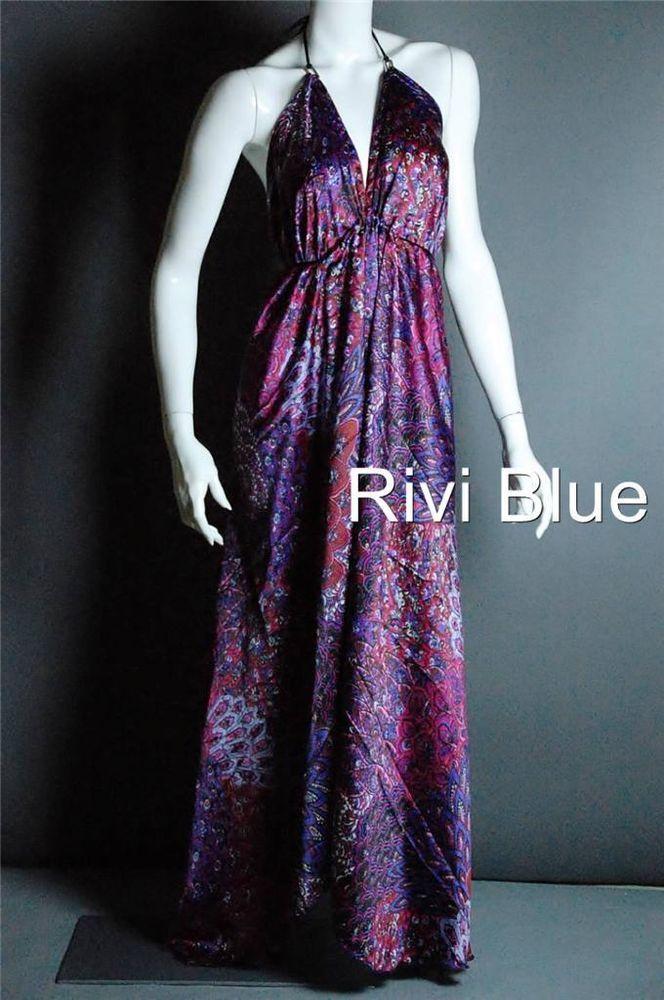 $36.85! Scarf Dress Silk Multi Wear Maternity Party Dress Maxi Boho Long #RiviBlue #Maxi #Casual