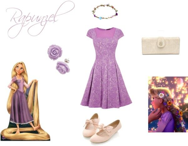 Disney Princess Inspired Outfits Rapunzel...great idea for grown up photos for our teenagers who still love their Disney princess.  Hope my personal photographer sees this!