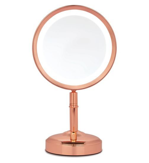 No7 Rose Gold Illuminated Mirror Exclusive To