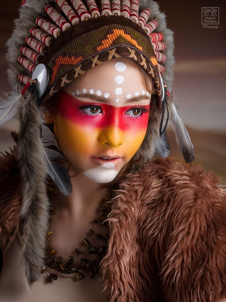 maquillage tribal amerindien. Black Bedroom Furniture Sets. Home Design Ideas