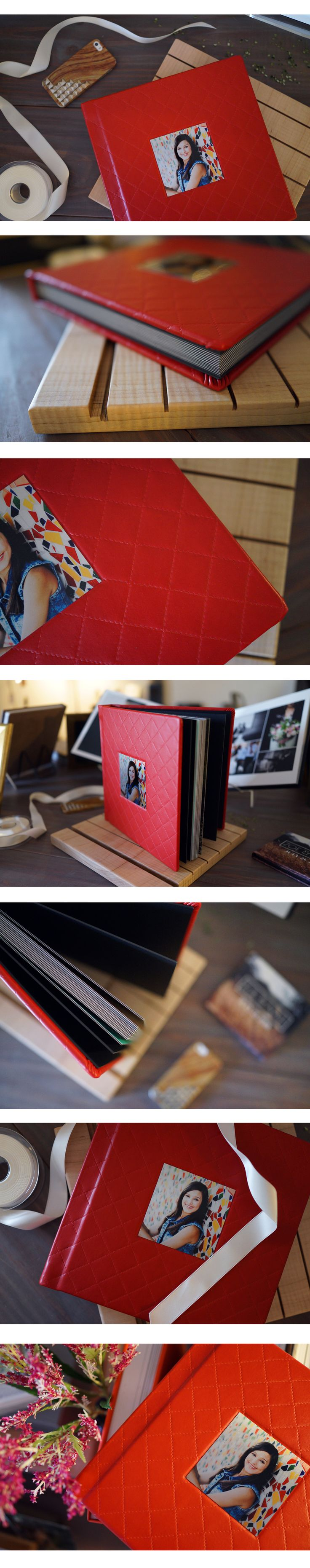 We absolutely love how the Cherry Pie Leather goes so amazingly with the cameo image on this album! Cameo image by Chantal Brown Photography