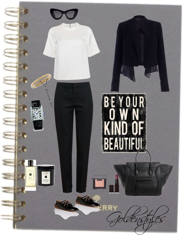 Simple black and white #goldenstyles #100clothinginspiration #outfits #winter #chloe #simplestyles