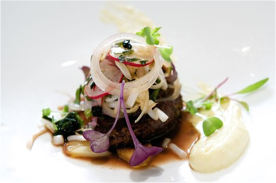 97. Restaurant Sat Bains, Nottingham, England - Beef cheeks with seaweed, oysters, sprouts and radish