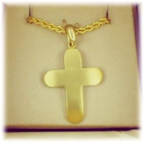 Σταυρός Κ14 από κίτρινο χρυσό. 33x22χιλ. #marizaart #greekart #art #greece