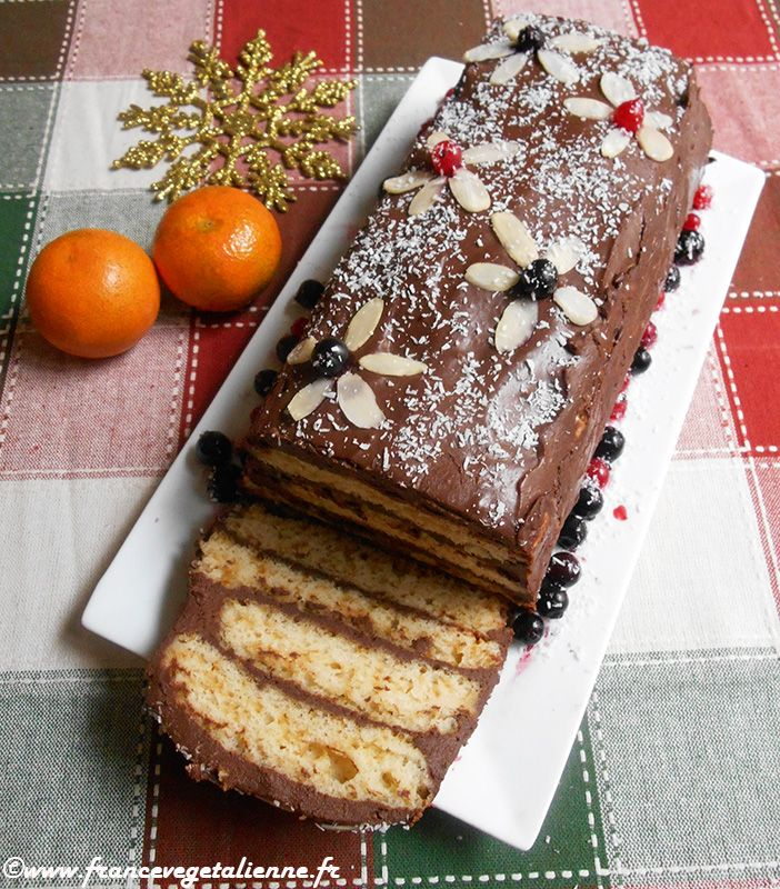Bûche de Noël (végétalien, vegan) — France végétalienne