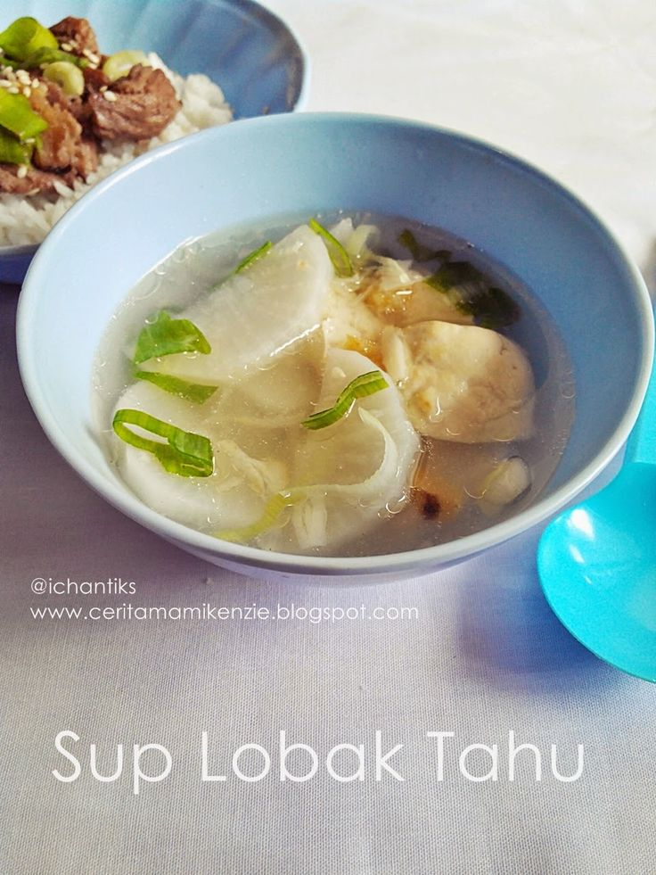 Resep MPASI: Sup Lobak Tahu (1y+)   Cerita Mami Kenzie