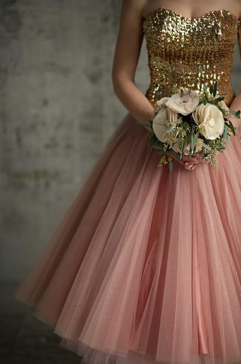 Rose gold bridesmaid dress to match your rose gold or for Mint and gold wedding dress