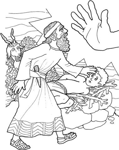 Holy Spirit Interactive Kids: Coloring Pages - Scenes from the Old Testament: Abraham and Isaac