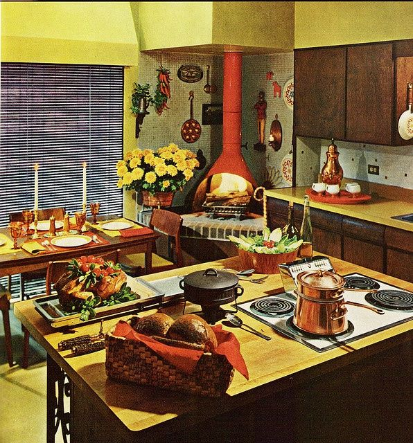 70's Tacky Chic. I Love The Island Stove Top And The