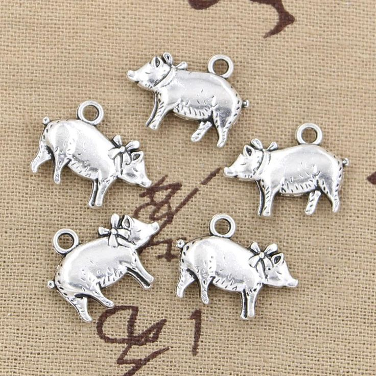 10pcs Charms 3D pig 21*16mm Antique pendant fit,Vintage Tibetan Silver,DIY for bracelet necklace //Price: $3.95 & FREE Shipping //     #hashtag1