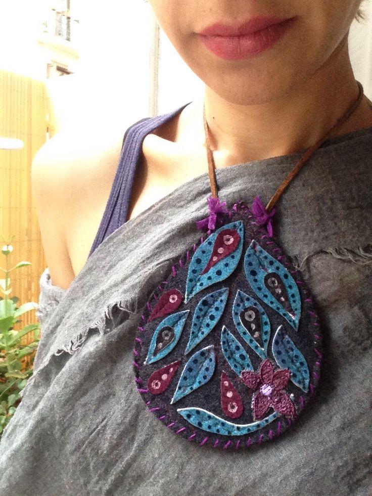 Un favorito personal de mi tienda Etsy https://www.etsy.com/es/listing/487499295/collar-necklace-leaves-pieza-unica-hecha