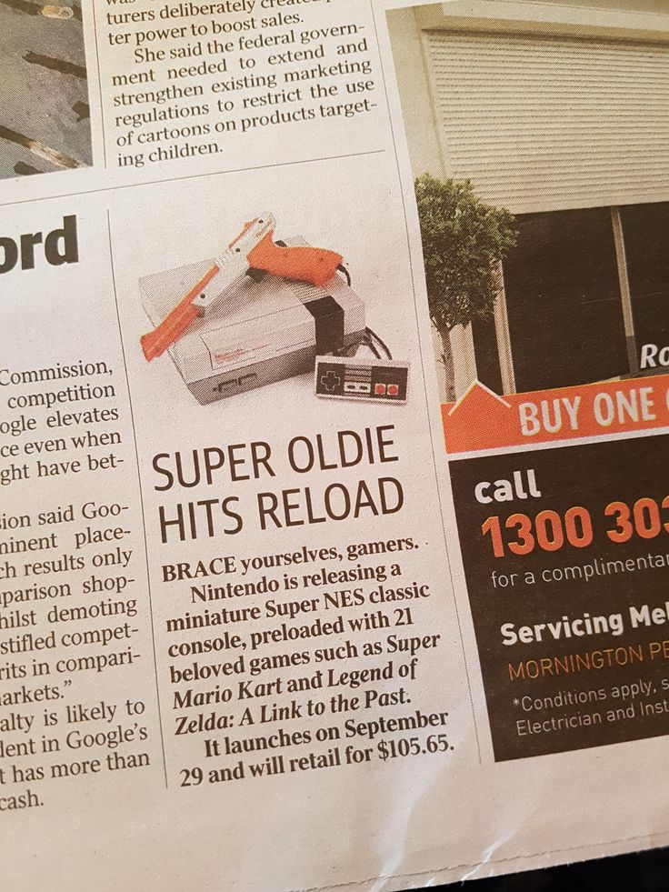 An Australian newspaper used a picture of a NES in a section on the SNES (X-Post r/Nintendo)