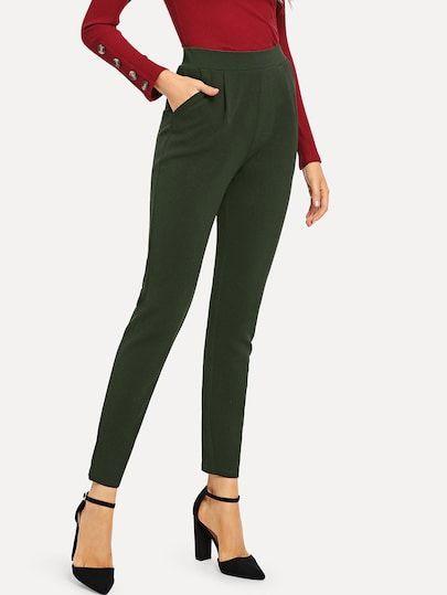 ff4cadec2 Pocket Side Skinny Pants new dress styles ,fashion forecast 2018 spring  summer latest fashion for girls1 ,new style dress for girl, #fashion  #beautiful ...