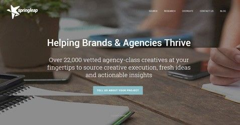 Springleap is a curated marketplace of creative professionals with agency experience. Brands and agencies increase their ROI on creative and marketing campaigns through critical feedback and localized actionable insights in record time at reasonable costs.
