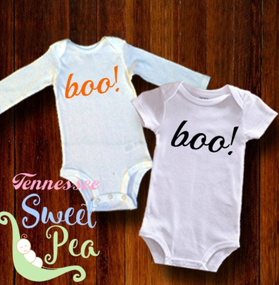 Halloween, Boo, 1st Halloween, Halloween Costume, Baby Halloween outfit, First Halloween, Ghost, Baby Shower Gift, Infant Halloween Bodysuit by TennesseeSweetPea on Etsy