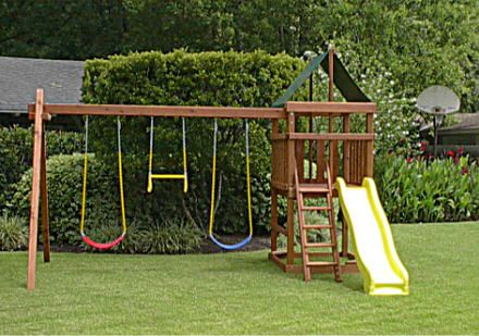Endeavor Redwood Fort/ Swingset And DIY Plans Gallery